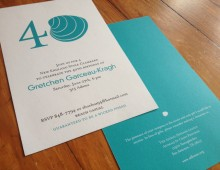 40th birthday clambake invitation