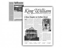 king william newsletter redesign