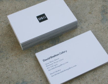 business cards for a contemporary art gallery